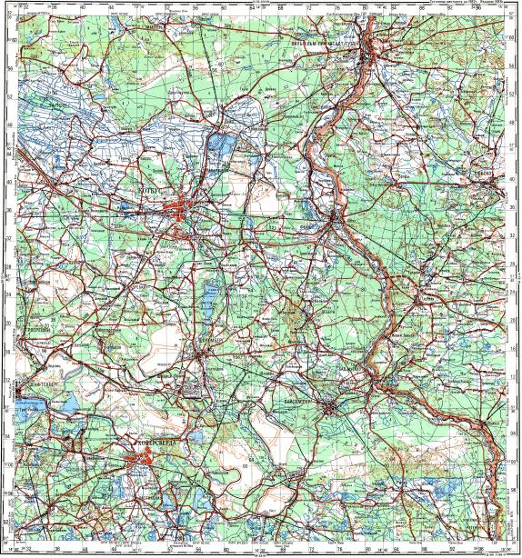 Download topographic map in area of Cottbus Hoyerswerda Spremberg