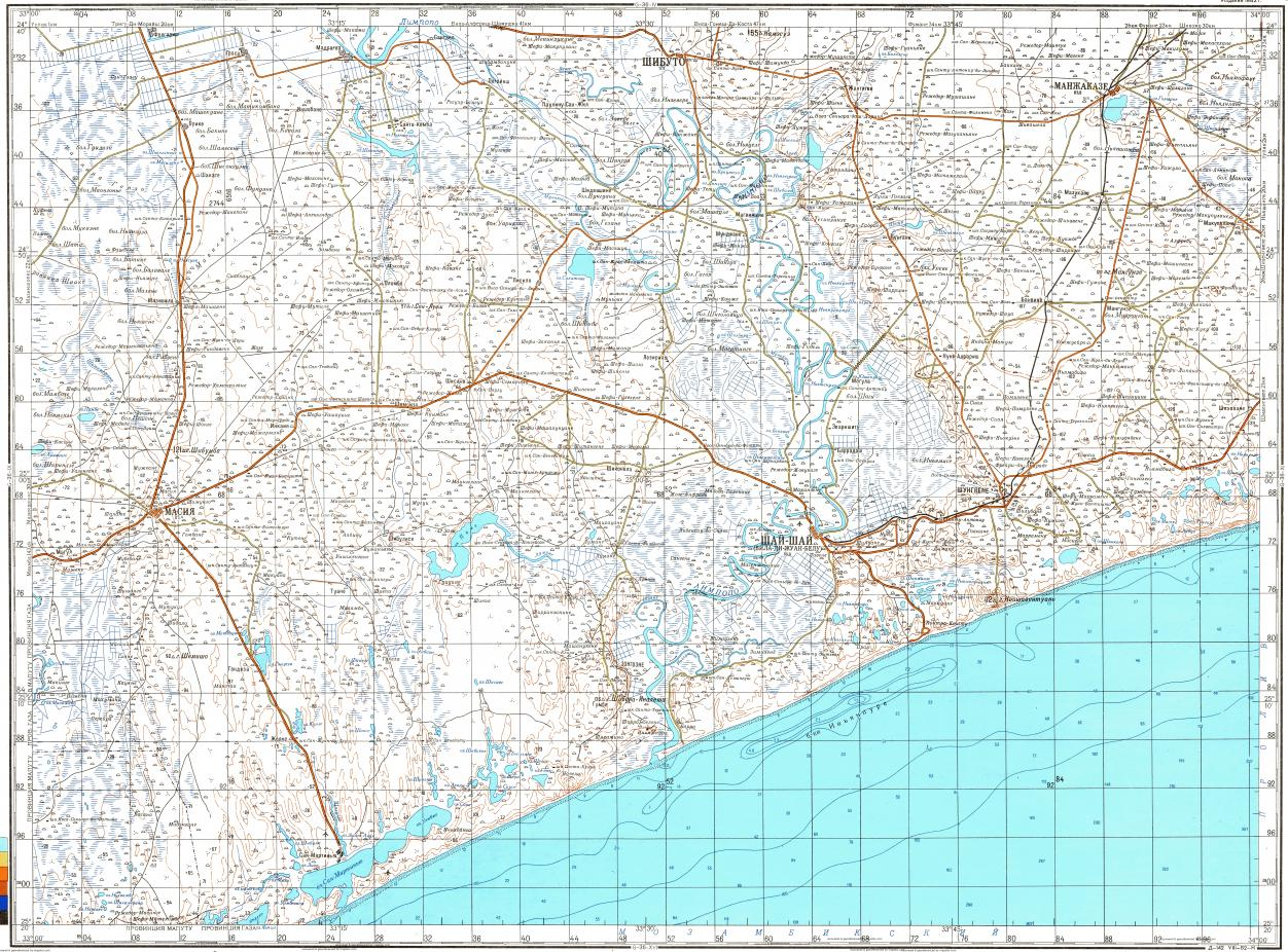 Download topographic map in area of Xai Xai mapstorcom