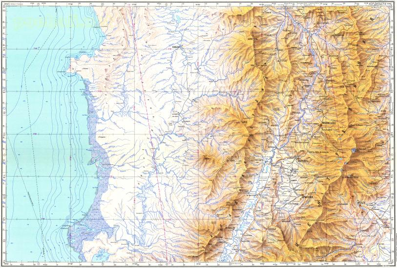 Download topographic map in area of Manizales Pereira Ibague