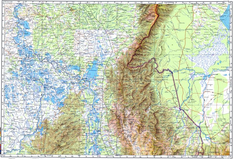 Download Topographic Map In Area Of Ocana Magangue El Banco - Magangué map