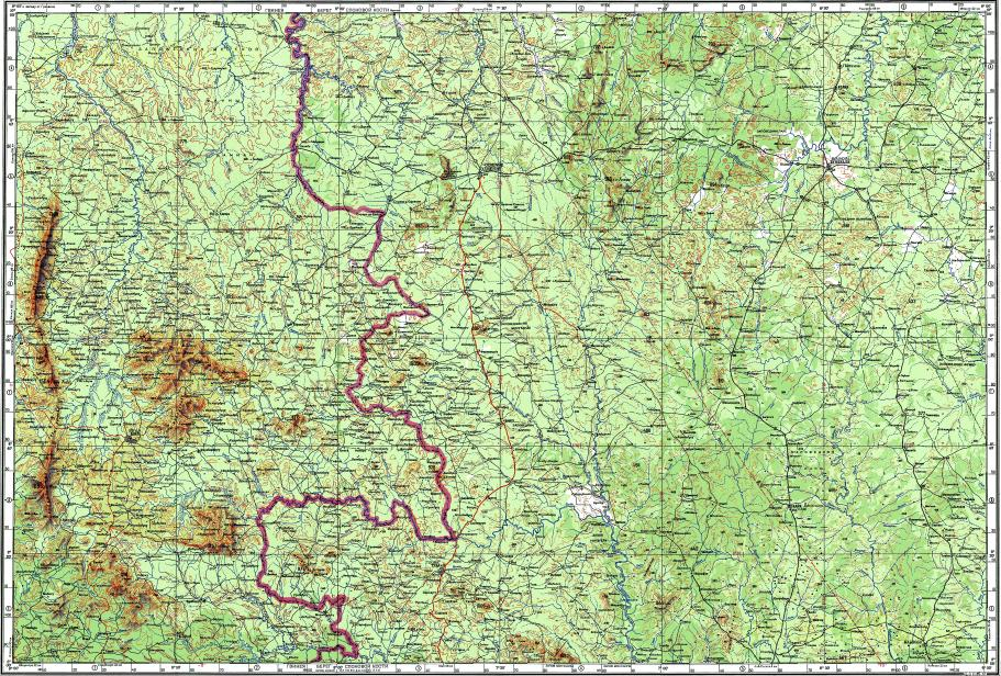 Download topographic map in area of Odienne Boundiali Touba