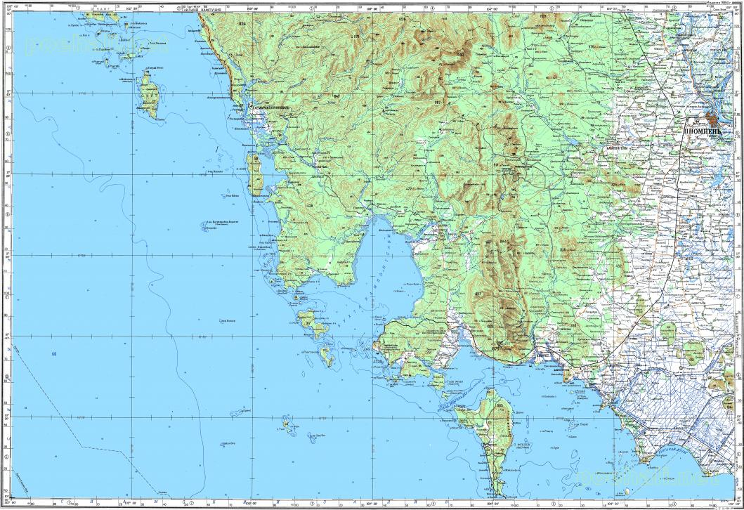 Thailand Topographic Map.Download Topographic Map In Area Of Phnom Penh Phumi Chhuk Sar