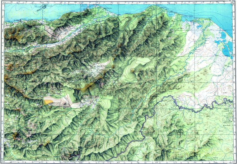 Download topographic map in area of La Ceiba Juticalpa Danli