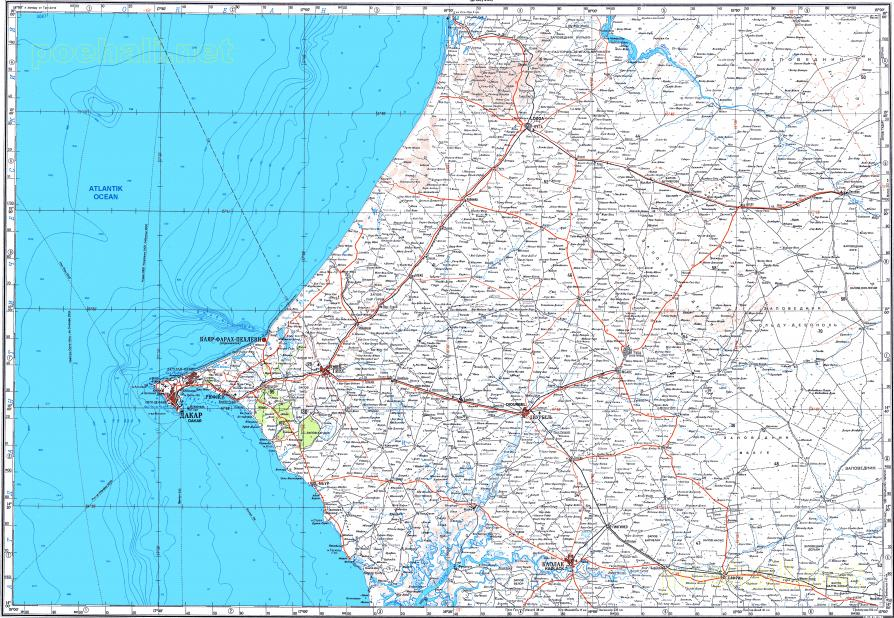 Download topographic map in area of Dakar Thies Kaolack mapstorcom