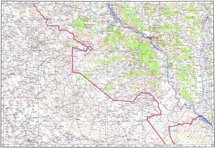 Download topographic map in area of Niamey Fadangourma Say