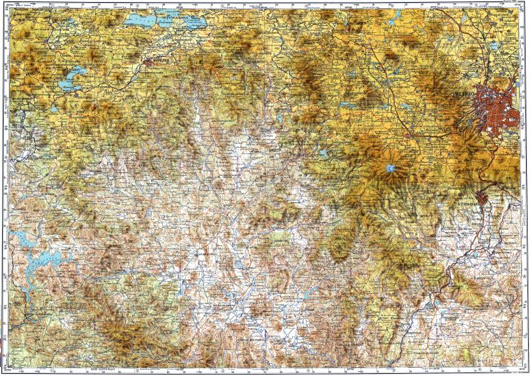 Download topographic map in area of Mexico City, Tlalnepantla ...