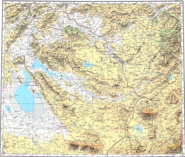 Download topographic map in area of Kayseri Kirikkale Aksaray