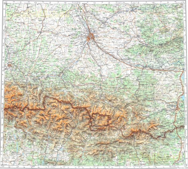 Download topographic map in area of Albi Andorra La Vella Arreau