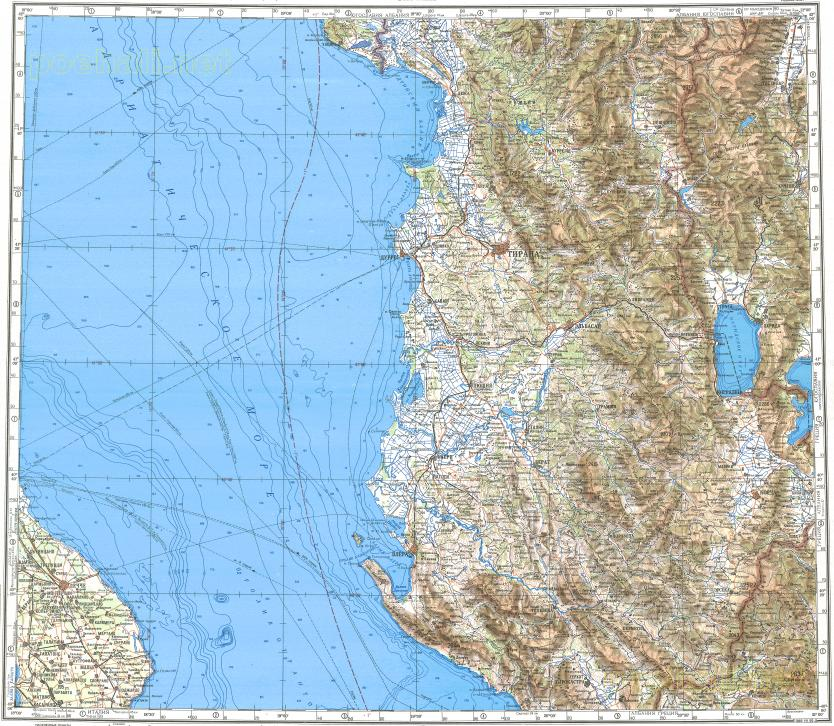 Download topographic map in area of Tirane Durres Lecce mapstorcom