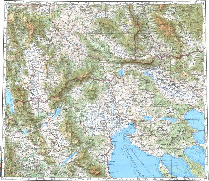 Download Topographic Map In Area Of Thessaloniki Bitola Prilep