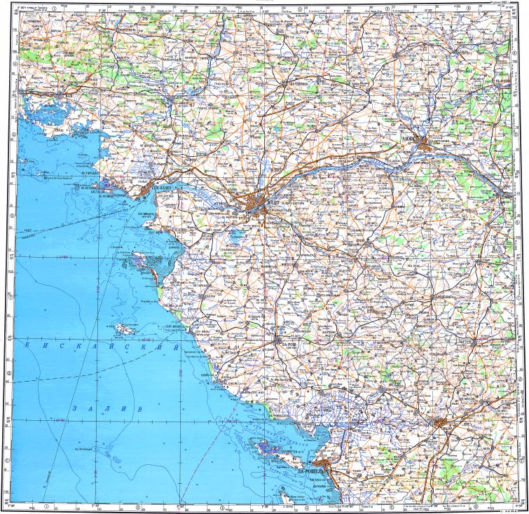 Download topographic map in area of Nantes Angers Saint Nazaire