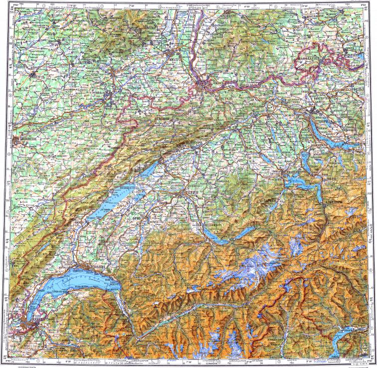 Download topographic map in area of zurich geneva mulhouse reduced fragment of topographic map ru gs 500k l32 publicscrutiny Gallery