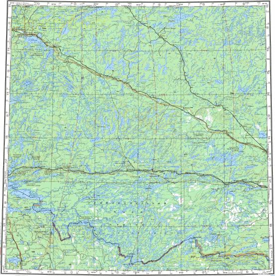 Download topographic map in area of atikokan lake dryden for Garage des milles lacs