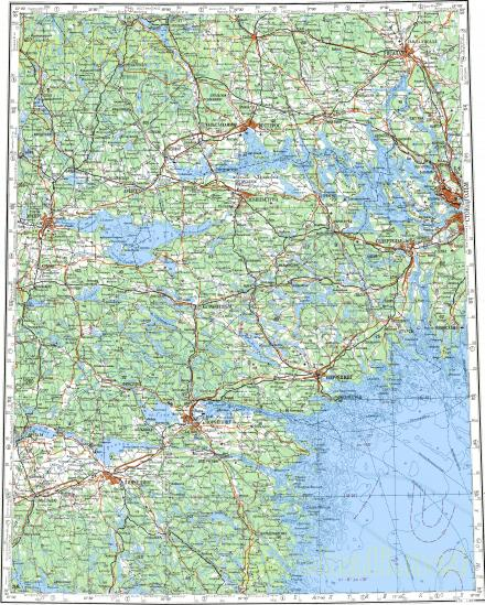 Download topographic map in area of Orebo Uppsala Norrkoping