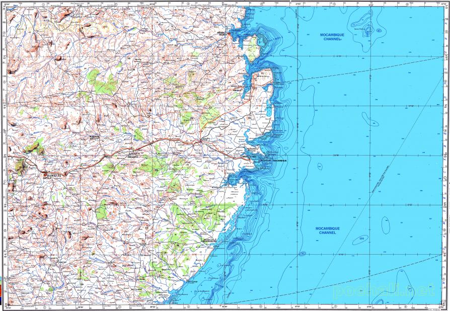 Download topographic map in area of Nacala Memba Chavieque