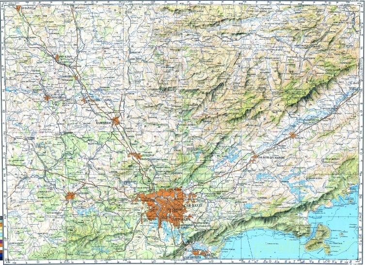 Download Topographic Map In Area Of Sao Paulo Campinas Santos - Campinas map