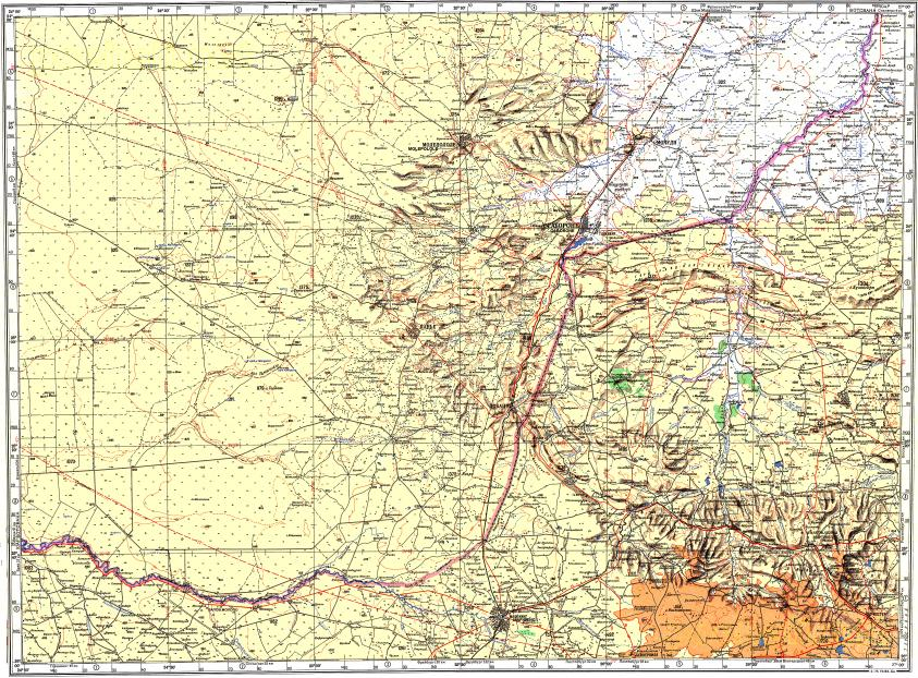 Download topographic map in area of Gaborone Tshidilamolomo