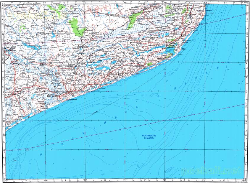 Download topographic map in area of Xai Xai Chidenguele mapstorcom